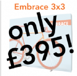 3x3 Embrace Fabric Pop-up Wall Offer